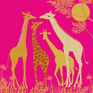 GIRAFFE FAMILY - Blank Card