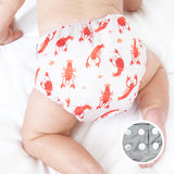 lobster festival snap diaper cover