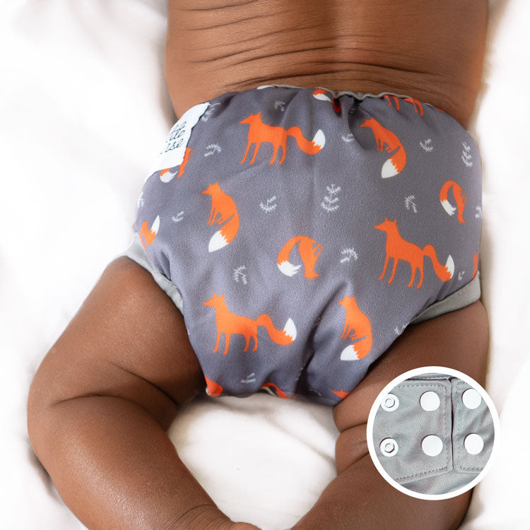 little fox snap diaper cover usa