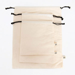 3 reusable cotton bags