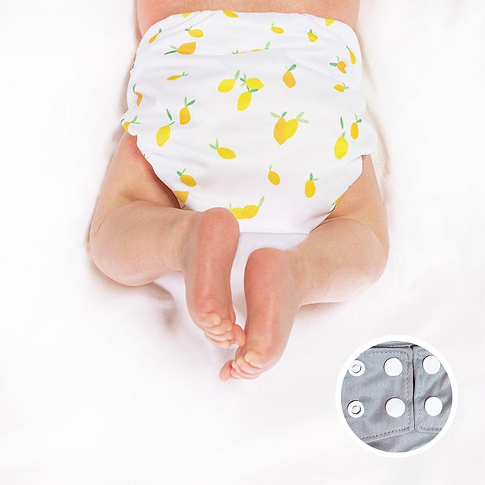 Lemon Snap pocket diaper for newborns