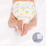 lemon velcro pocket diaper for newborns