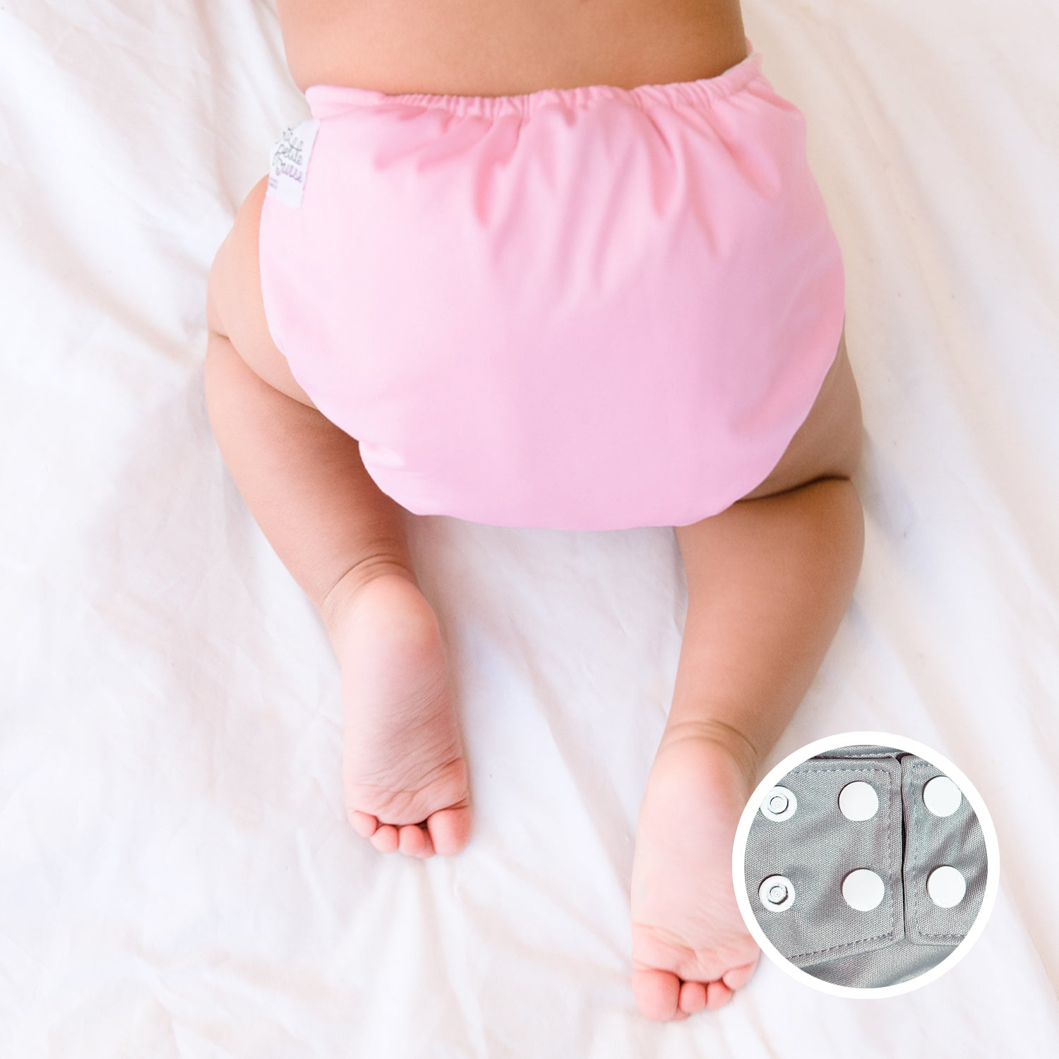 Baby Pink pocket diaper for newborns