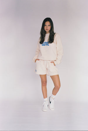 SWEATSHORT SUITE 1.0 | CREAM