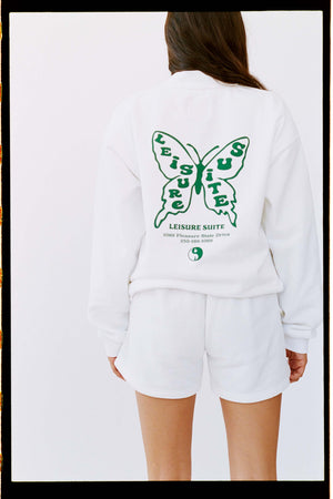 BUTTERFLY SWEATSHIRT | WHITE