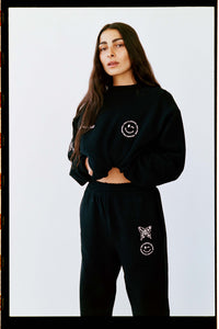 PLACEMENT SWEATPANT | BLACK