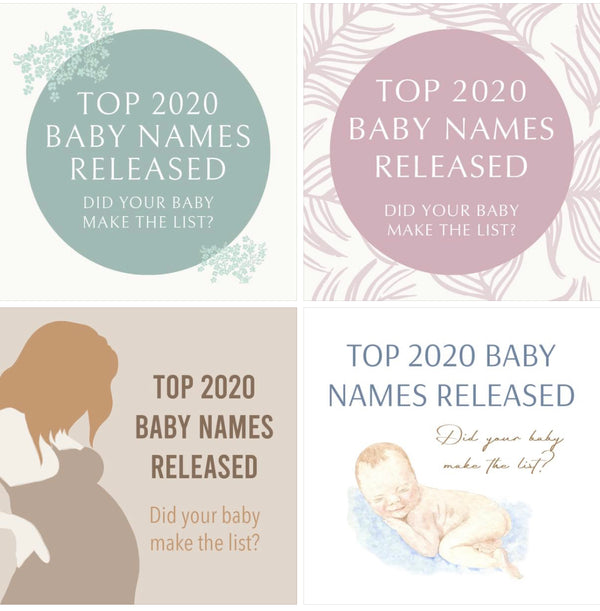 Content Ideas : Top 2020 Baby Names Released