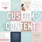 Content Sets : Custom Made For Your Business