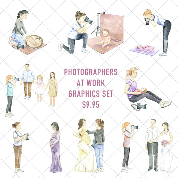 Photographers At Work Graphics Set