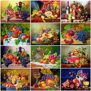 Zalarfe Paint By Number Sets - Fruit Still Life Series 12 Designs