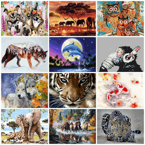 Zalarfe Paint By Number Sets - Wildlife Illustration Series 18 Designs
