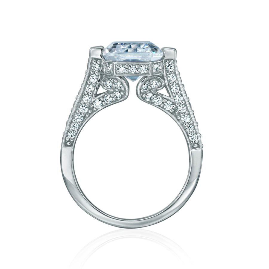 DANI 'Regal' Ring with Pave in 925 Sterling Silver
