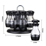 8 Jar Rotating Kitchen Spice Rack Bottle Storage Holder Condiments Container