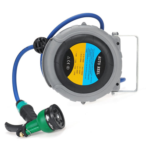 Hose Reel Retractable Automatic Flexible Garden Ceiling Mount Hose Reel