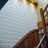 12Pcs 3D PVC Wall Paper Panel Tiles Diamond Design Room Background Home Decor Sticker 500x500mm