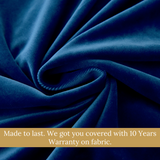 Luxury Dark Blue European Style Swag Valance Curtain