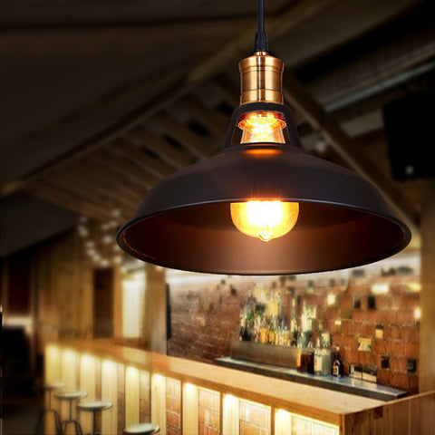 Loft Vintage Industrial Lamp Iron Pendant Light Fixture