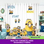 Yellow Minion 3D Curtain Kids Bedroom Drapes