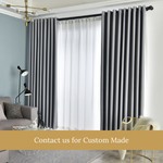 Blockout Grey Top Quality Fabric Curtain Drapes
