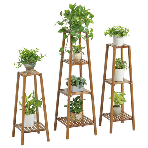 Wooden Flower Pot Stand Bamboo Wood Plant Shelf Rack