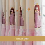 Pink Dancing Girls Kids Bedroom Curtain Drapes