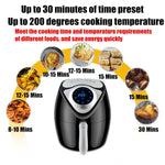 1700W Electric Air Fryer 6.1 Quart Digital Timer Temp Control Touch Screen