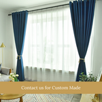 Blockout Blue Top Quality Fabric Curtain Drapes