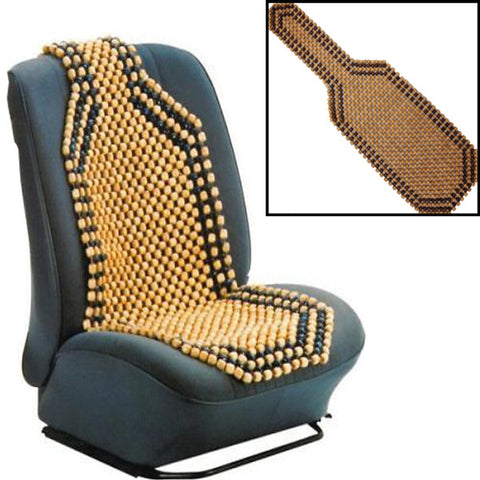 Beaded Wooden Massage Car Seat Home Office Chair Cushion Cover