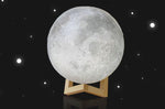 8cm Touch Sensor 3D Moon Table Lamp USB Color Changing LED Luna Night Light