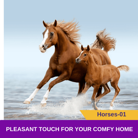 Animal Horses 3D Blockout Curtains For Kids Bedroom