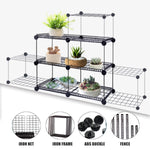 3-6 Layer Flower Pot Plants Stand Display Shelf Organizer Home Garden Planter Holder Rack