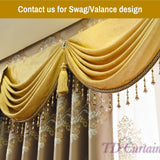 Coffee Brown Blockout Swag Valance Drapes Pelmet Sheer Curtain