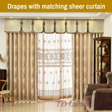 Ivory Creamy Beige Blackout Swag Valance Curtain Drapes