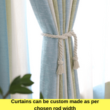 Blockout Fabric Sky Green Stripes Curtain Drapes