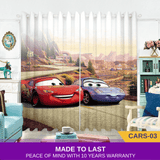 Cars Lightning McQueen Blue 3D Kids Bedroom Curtains