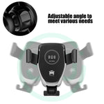 Wireless Fast Charge Gravity Linkage Auto Lock Car Holder Mount