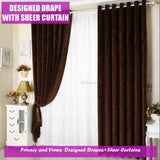 Coffee Brown Cappuccino Blockout Curtain Drapes Bedroom