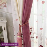Hello Kitty Swags Valance Creamy White Ivory Curtain Fabric Drapes