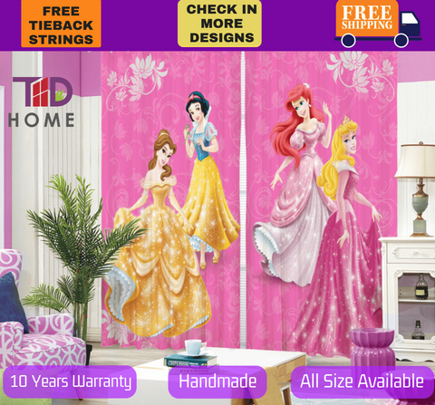 Disney Princess Barbie 3D Blockout Curtain Drapes