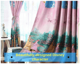 Disney Princess Pink  Blue Girl Kids Bedroom Drapes