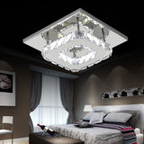 Modern Square Crystal LED Ceiling Light Fixture Pendant Lamp Chandelier Home Lighting Décor 12W 220V