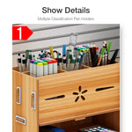 Multi-functional Storage Box Desk Personalized Decoration Wooden Organizer