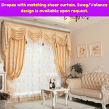Blockout Golden Coast Luxury Swag Curtain Drapes