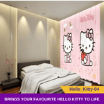 Hello Kitty 3D Blockout Curtain Pink Print Drapes