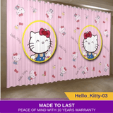 Hello Kitty 3D Print Drape Pink Blackout Window Curtain