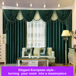 Luxury Jade Velvet Swag Valance Pelmet Curtain Bedroom Drapes