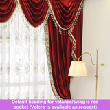 Luxury Ruby Red Velvet Blockout Valance Pelmet Curtain Drapes