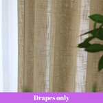 Luxury Sheer Curtain Coffee Tassel Drapes Valance Design