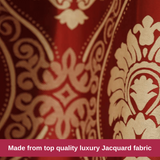 Luxury Burgundy Jacquard Fabric Swag Valance Pelmet Curtains