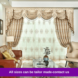 Luxury Beige Blockout Swag Valance Pelmet Curtain Drapes